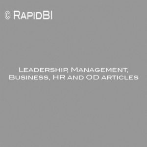 Leadership, Management, Business, HR and OD articles