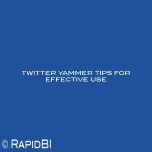 twitter yammer tips for effective use