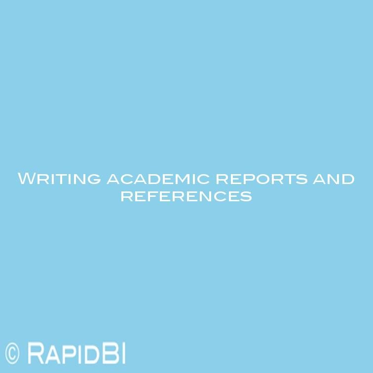 Use references academic writing
