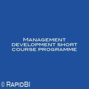 Management development short course programme