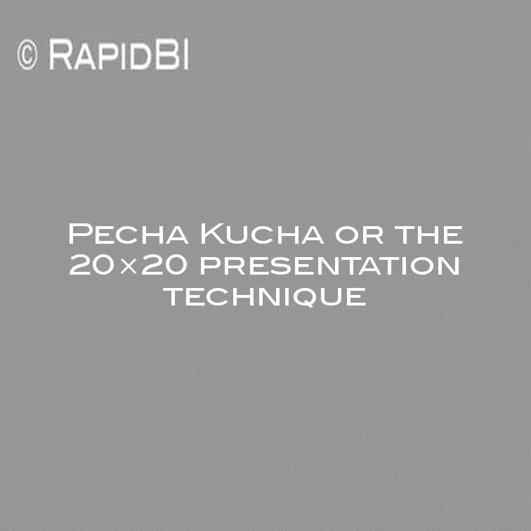 pecha kucha or the 20x20 presentation technique, Modern powerpoint