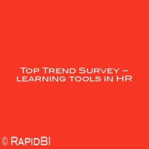 Top Trend Survey – learning tools in HR