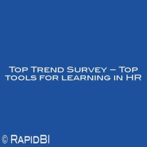 Top Trend Survey – Top tools for learning in HR
