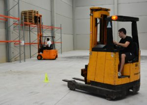 Photo of forklift truck safety training