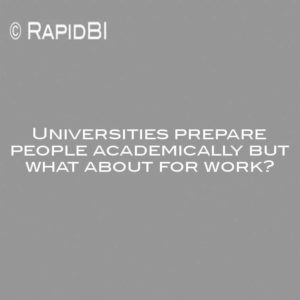 Universities prepare people academically but what about for work?