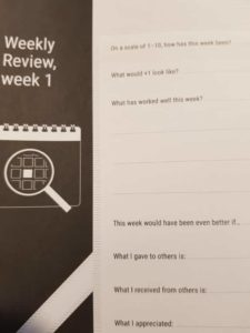 check-in strategy journal reflection page