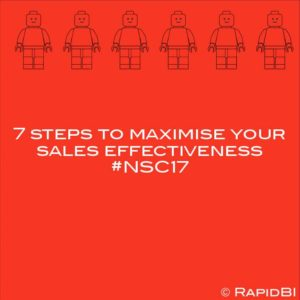 7 steps to maximise your sales effectiveness #NSC17