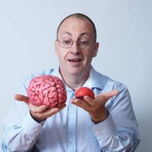 man with 2 brains - creative thinking