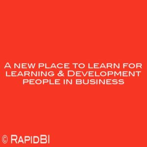 A new place to learn for learning & Development people in business