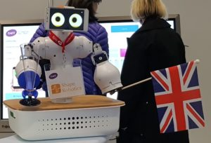 Robot giving customer information