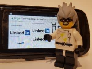 Crazy professor explaining LinkedIn stats - Lego Minifig