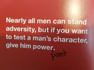 Nearly all men can stand adversity - power point
