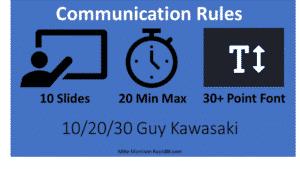 communication presentation rules 10 20 30